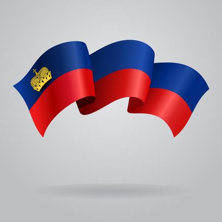 liechtenstein: Liechtenstein waving Flag. Vector illustration Illustration