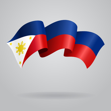 philippines: Philippines waving Flag. Vector illustration