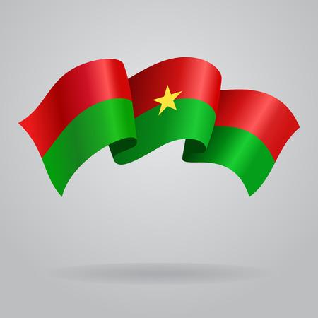 burkina faso: Burkina Faso waving Flag. Vector illustration