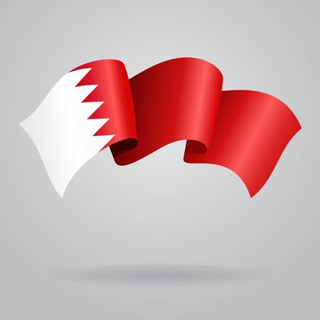 bahrain: Bahrain waving Flag. Vector illustration Illustration