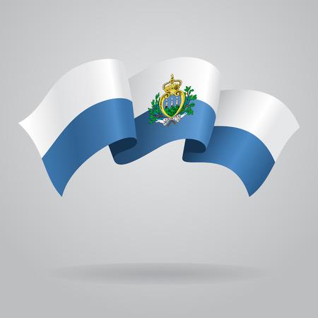 san marino: San Marino waving Flag. Vector illustration