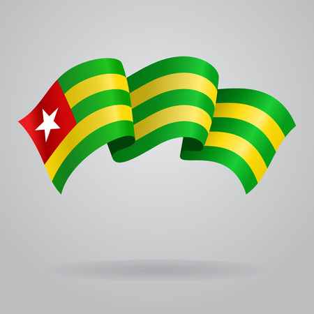 Togolese waving Flag. Vector illustration Vector