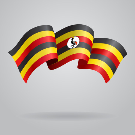 ugandan: Ugandan waving Flag. Vector illustration Illustration