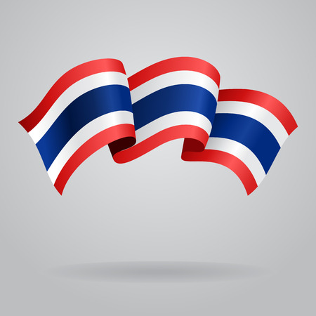 Thai wehende Flagge. Vektor-Illustration Standard-Bild - 37919122