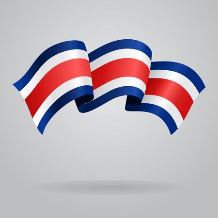 rican: Bandera que agita de Costa Rica. Ilustraci�n vectorial Vectores