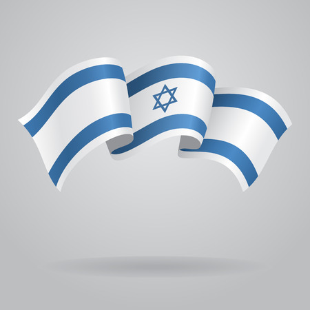 israeli: Israeli waving Flag. Vector illustration