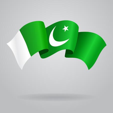 pakistani: Pakistani waving Flag. Vector illustration