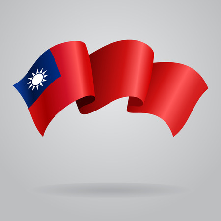Taiwan agitant drapeau. Vector illustration