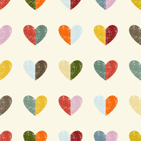 Seamless pattern with hearts. Vector illustration. Vector