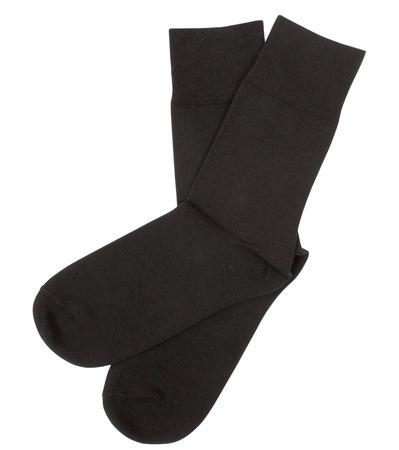 calcetines: Par de calcetines. Aislado en un fondo blanco. Caminos de recortes incluidos. Foto de archivo