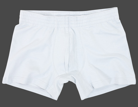 Male underwear isolated on a gray background.