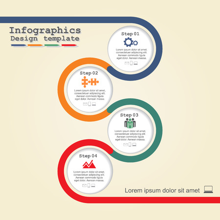 flow diagram: Infographic design template. Vector illustration. Illustration