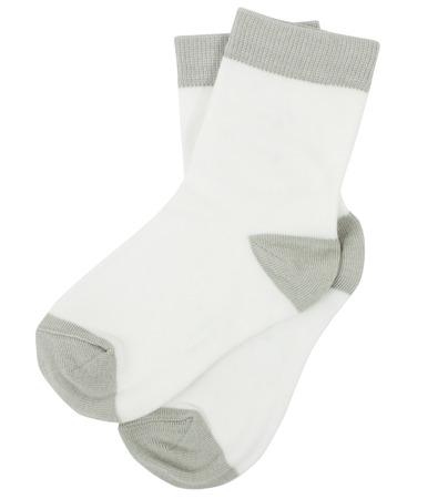 calcetines: Par de calcetines. Aislado en un fondo blanco. Foto de archivo