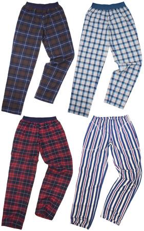 sweats: Set of sweatpants isolated on white background Stock Photo