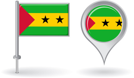 tome: Sao Tome and Principe pin icon, map pointer flag