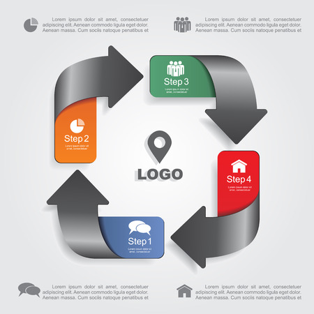 Infographic design template with elements and icons