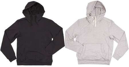 Two hoodie shirts isolated on white background photo