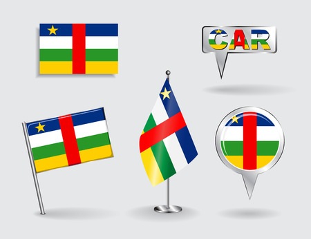 Set of CAR pin, icon and map pointer flags. Vector illustration. Vector