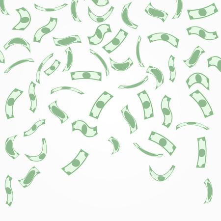 dollaro: Sfondo con soldi che cadono dall'alto.