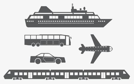 Different kinds of transport. Vector illustration Vector