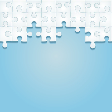 Puzzle frame background. Vector illustration