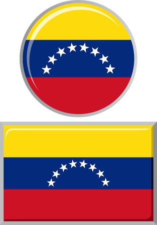venezuelan: Venezuelan round and square icon flag.