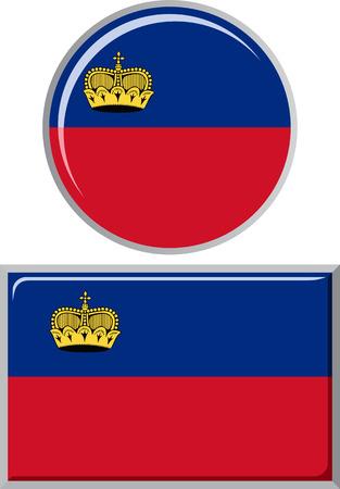 liechtenstein: Liechtenstein round and square icon flag