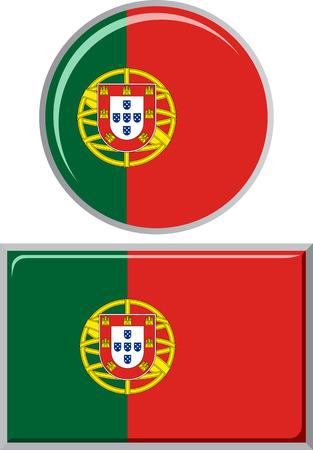 portuguese: Portuguese round and square icon flag.