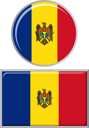 moldovan: Moldovan round and square icon flag