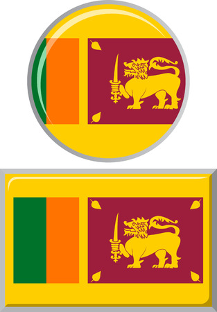 sri: Sri Lanka round and square icon flag. Vector illustration Eps 8.