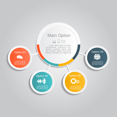 3d circle: Infographic report template layout. Vector illustration Eps 8.