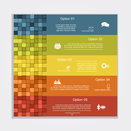 circle frame: Infographic report template layout. Vector illustration Eps