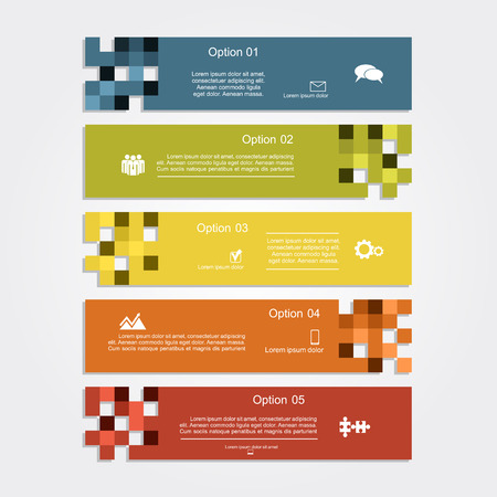 Infographic report template layout. Vector illustration Eps