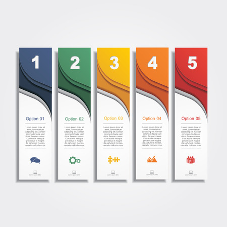 business banner: Infographic report template layout. Vector illustration Eps