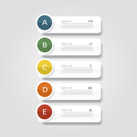 number button: Infographic report template layout. Vector illustration Eps