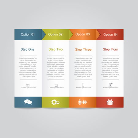 button: Infographic report template layout. Vector illustration Eps