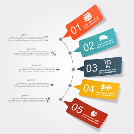 Infographic ontwerp sjabloon met plaats voor uw gegevens. Vector illustratie.