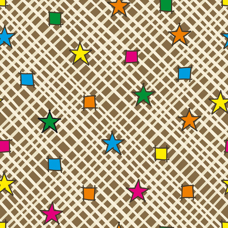 Abstract seamless pattern wallpaper background. Vector illustration.