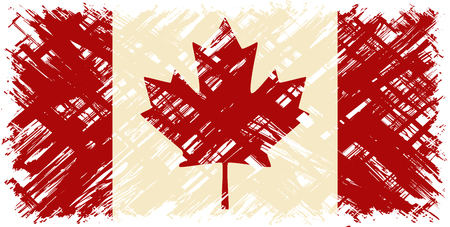 cleaned: Canadian grunge flag. Vector illustration. Grunge effect can be cleaned easily. Illustration