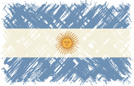 argentinean: Argentinean grunge flag. Vector illustration. Grunge effect can be cleaned easily.