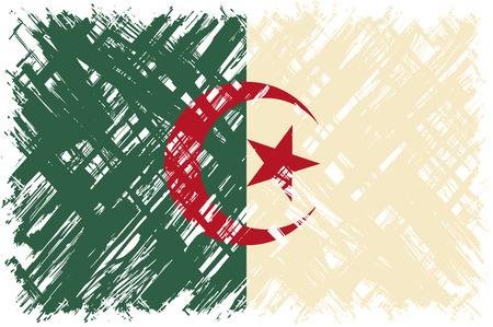 algerian flag: Algerian grunge flag. Vector illustration. Grunge effect can be cleaned easily.