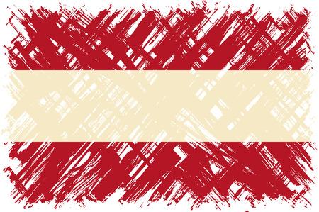 austrian: Austrian grunge flag. Vector illustration. Grunge effect can be cleaned easily.