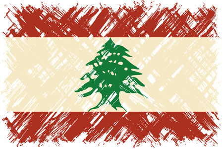 lebanese: Lebanese grunge flag. Vector illustration. Grunge effect can be cleaned easily.