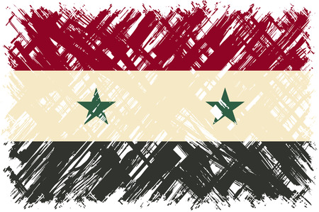 cleaned: Syrian grunge flag. Vector illustration. Grunge effect can be cleaned easily.