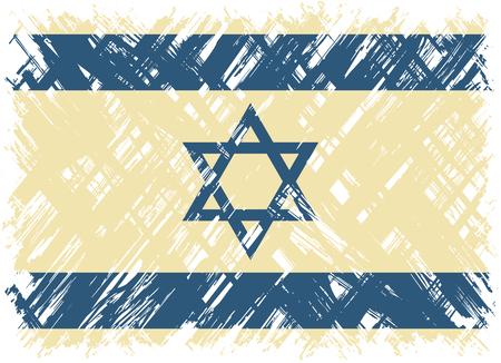 cleaned: Israeli grunge flag. Vector illustration. Grunge effect can be cleaned easily.