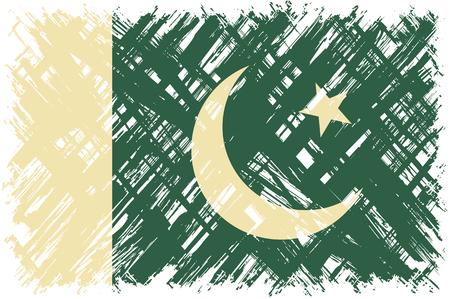 pakistani: Pakistani grunge flag. Vector illustration. Grunge effect can be cleaned easily. Illustration