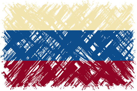 cleaned: Russian grunge flag. Vector illustration. Grunge effect can be cleaned easily. Illustration