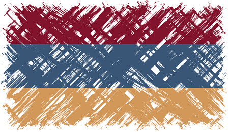 armenian: Armenian grunge flag. Vector illustration. Grunge effect can be cleaned easily. Illustration