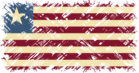 cleaned: Liberian grunge flag. Vector illustration. Grunge effect can be cleaned easily.