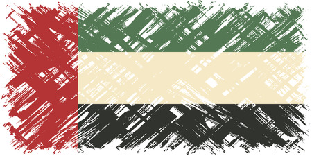 cleaned: United Arab Emirates grunge flag. Vector illustration. Grunge effect can be cleaned easily.